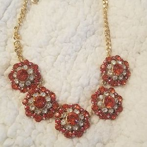 Versona red and white gem necklace